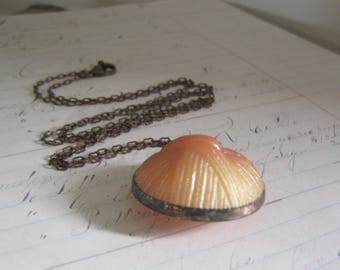 Vintage  Coat Button Long Necklace Recycled Jewelry