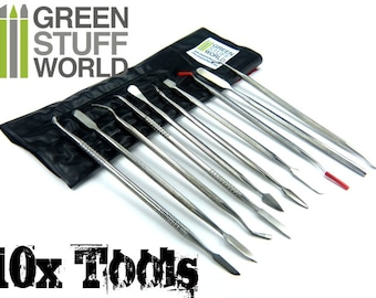 Sculpting Tools - 10 pcs - Wax Carvers - Green Stuff Carver tool - Spatula Wax Carving Set