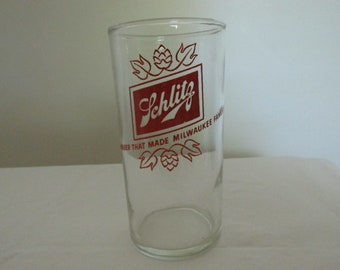 Vintage Schlitz Beer Drinking Glass