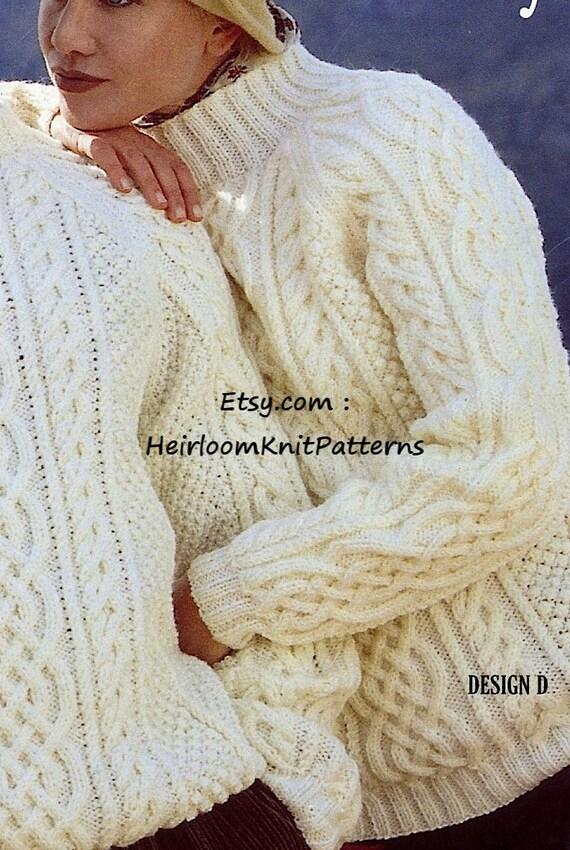 Classic Men Women\'s Aran Sweaters Vintage Knitting Pattern PDF Aran ...