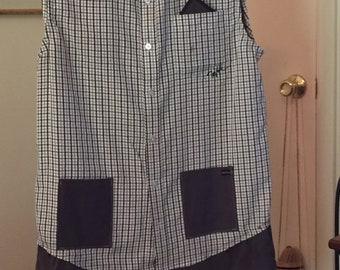 Plaid Two Shirt Tunic
