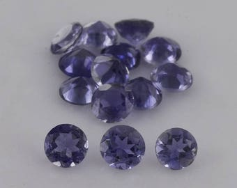Natural Iolite 2.8x2.8x1.8 Faceted Cut Round 16 Pieces 1.18 cts Loose Gemstone - 100% Natural Blue Iolite Gemstone - IOBLU-1199