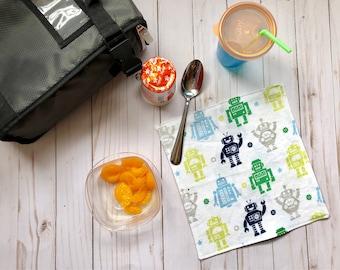 Lunchbox napkins, zero waste napkins, reusable napkins, kids napkins, children's napkins, back to school, lunch napkins, kids cloth napkins