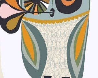 Owl.  Limited edition print by Matte Stephens.