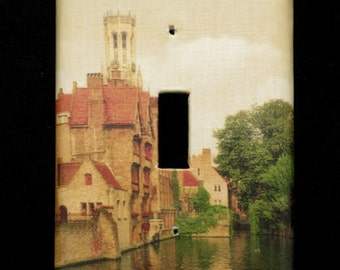 Single Switchplate Cover - Old World Bruges (Brugge)