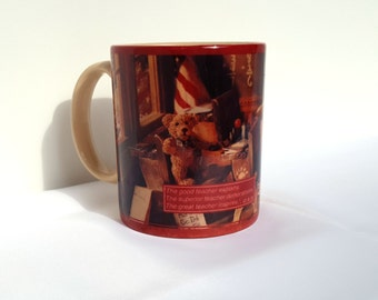 Vintage Boyd's Bears Great Teachers Inspire Coffee Mug from 1995 Xpres Corp 618302 presented by Donellensvintage