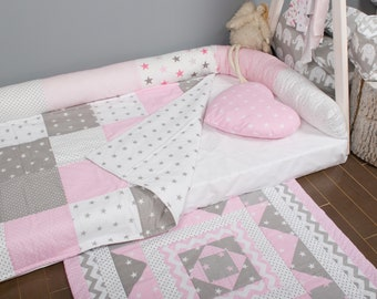 Ready to ship! Play mat 86*87cm. Reversible Baby rug handmade decor Tummy Time Mat quilt floor carpet baby shower nursery floor mat kids