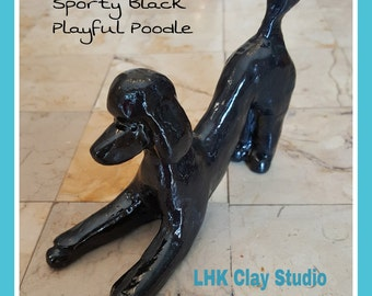 Play Bow Standard Poodle Sculpture