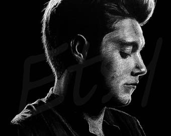 Niall Horan art print, drawing