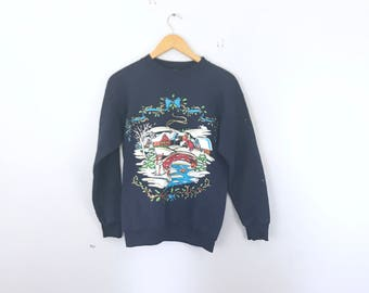 Ugly chistmas sweater folk holiday crew neck ironic, norm core,
