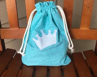 Ice Princess Gift Bag, Gift for Girls, Baby Shower Gift, Christmas Gift, Drawstring Bag, Princess Costume, Trick-or-Treat Bag, Halloween Bag