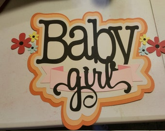 Baby girl wall sign for baby shower!