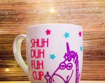 Naughty unicorn mug