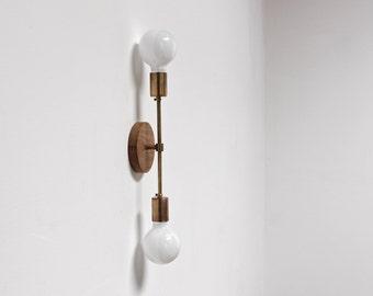 Brass midcentury sconce, wall lamp, modern light