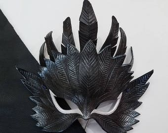 Leather Raven Mask - Made to Order