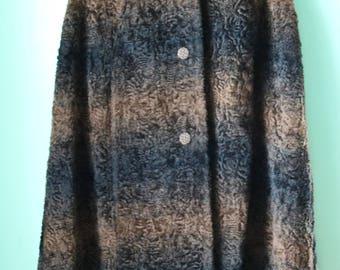 40s/50s Ombre Faux Lamb Wool Cape