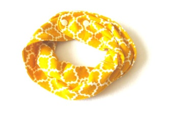 Yellow Quatrefoil  Baby Infinity Scarf - Yellow Toddler Infinity Scarf - Yellow Scarves - Scarves for girls - Scarves for boys