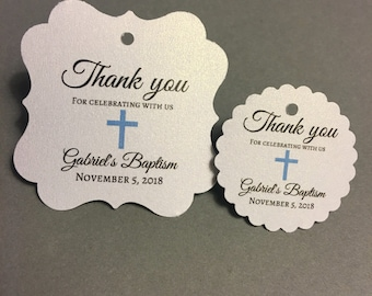 Baptism favor tags, thank you, mi bautizo, mi baptismo, christening favor tags, mi bautizo tags