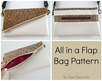 All in a Flap Bag - PDF Sewing  pattern