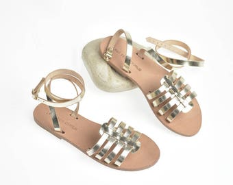 Nissi gladiator sandals. Artisan leather sandals, handcrafted Greek sandals. Various colours available. FREE DHL SHIPPING