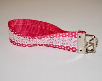 Hearts & Love Keychain (Pink, white, polkadots)
