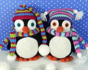 Pendleton and Penelope Penguin - Amigurumi Crochet Pattern