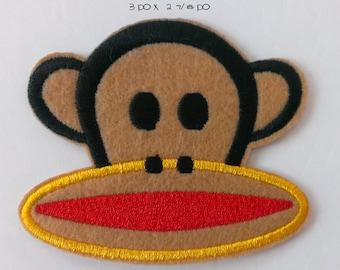 Monkey iron on patch