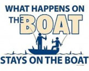 What Happens on the Boat Tee Shirt