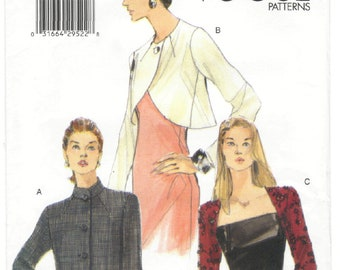 7021 Vogue - Misses Loose-fitting Lined Jacket, shrug - UNCUT Sewing pattern Sz. 8-10-12
