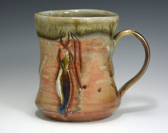 Ceramic Coffee Mug Handmade, unique coffee mug, handmade ceramic cup, hand thrown cup.