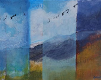 Seasons of the Rockies ~ Original Contemporary Abstract Landscape Painting