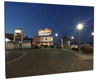 Dolles Taffy at night - Rehoboth Beach Boardwalk - canvas print