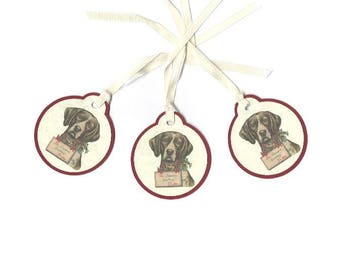Hound Dog Victorian Print Christmas Gift Tags, Set of 8 Tags, Old Fashioned Christmas, TwoSistersGreetings