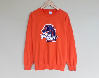 Boise State University sweatshirt / retro 80s 90s mens womens college shirt sweater / boise state broncos large jacket pullover hoodie BSU
