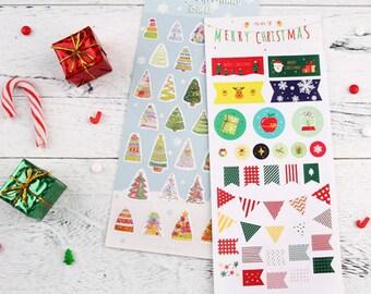 8 hojas Pegatinas decorativas Navidad pegatinas mano cuenta conjunto de pegatinas
