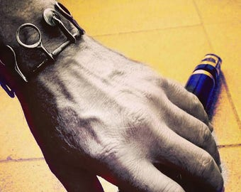 Bracelet for men clarinet keys