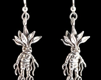 Mandrake Root Earrings Mandrake Root Charm  Plant Jewelry  Gift Mandragora Magic Spell