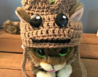 Crochet Cat Groot Hat/Dog Groot Hat/Pet Costume