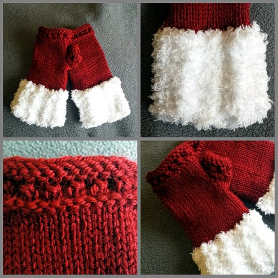 Loom Knitting Patterns Yuletide Fingerless Mittens Small