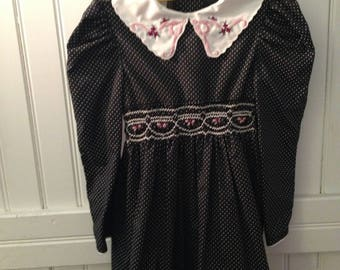 Vintage long sleeved Polly Flinders dress - size 5