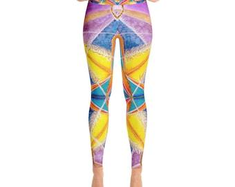 Heaven on Earth Mandala Art Yoga Leggings