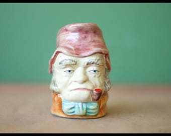 This pitcher, small decorative jug, pitcher, water jug, mug, jug face, pipe, head Cup, mug holder, kitchen decor