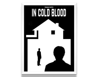 In Cold Blood Poster, Art Print, Literary Gifts, Bookish, Gift for Her, Minimalist Poster, Wall Art Prints, Wall Decor, Book Lover Gift
