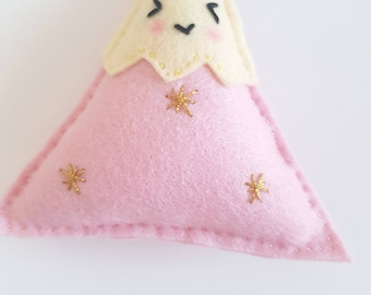 Felt Mountain Baby Rattle - Baby Gift, Baby Toys, Nursery Decor!