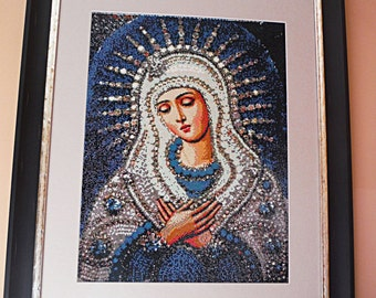 Religious Statues Virgin Mary Mosaic Diamond Painting