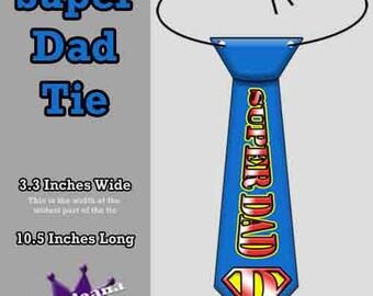 Printable Super Dad Tie Instant Download Printable DIY