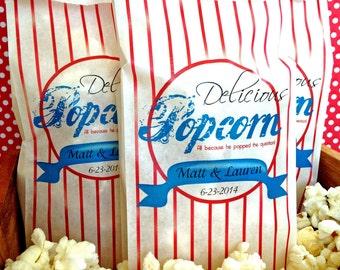 Personalized Popcorn Bags, custom Popcorn bags, Wedding Popcorn, Popcorn Bar Supplies,Tall Favor bags, Birthday party, movie night