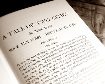Book Photo Dickens A Tale of Two Cities 5x7 Signed Art Print