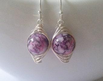Mottled Glass Earrings