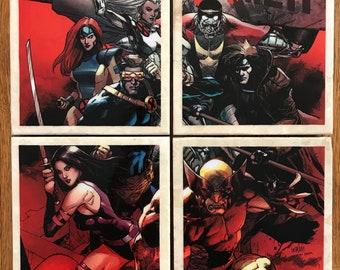 Set of 4 Stone Tile Coasters – Uncanny X-Men issue # 600